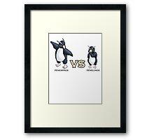 Pengwings VS Penglins Framed Print