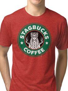 Elves at Stagbucks Tri-blend T-Shirt