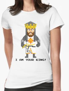King Arthur - Monty Python and the Holy Pixel Womens Fitted T-Shirt