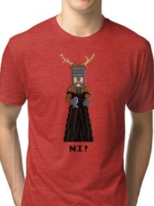 Knight of Ni - Monty Python and the Holy Pixel Tri-blend T-Shirt