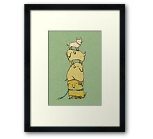 Puppy Totem Framed Print