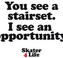 You see a stairset. I see an opportunity by destroyrebuild