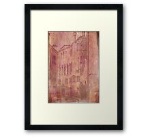 Venetian Rose Water Framed Print