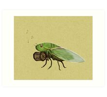 Cicada Playing a Squeezebox Art Print