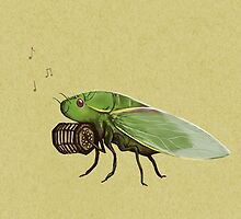 Cicada Playing a Squeezebox by Sophie Corrigan