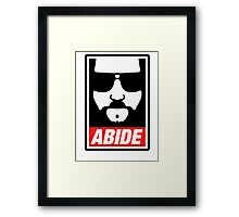 The big lebowski - Abide poster shepard fairey style Framed Print