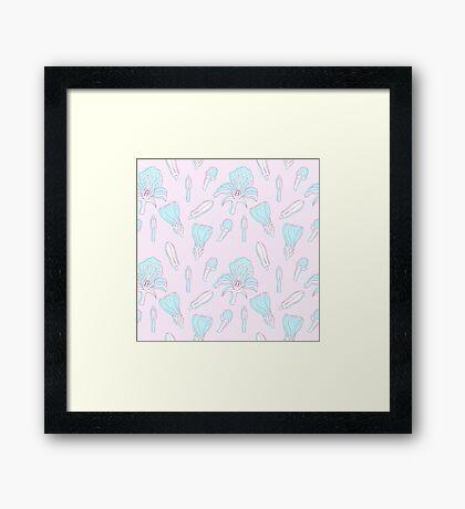 Pastel colored floral pattern Framed Print