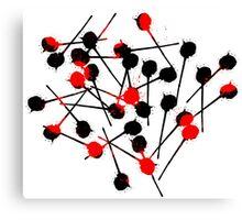 Red Dead Lollipops Canvas Print