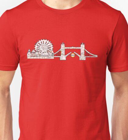 London Eye and tower bridge, London design Unisex T-Shirt