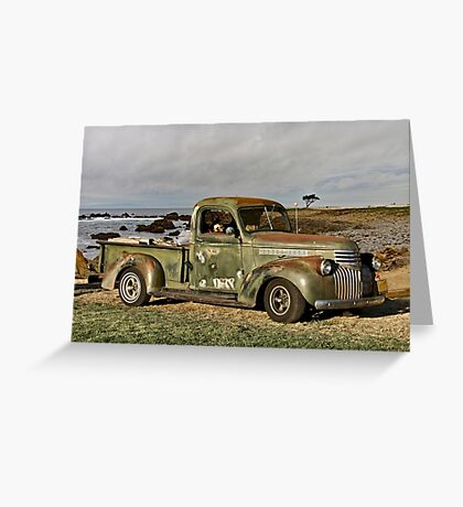 1948 Chevrolet Pickup 'Beach Erosion' Greeting Card