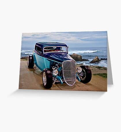 1934 Ford 'Beach Baby' Coupe Greeting Card