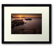 Sunset over Donegal Framed Print