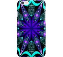 Decorative star in blue, purple and turquoise / green iPhone Case/Skin