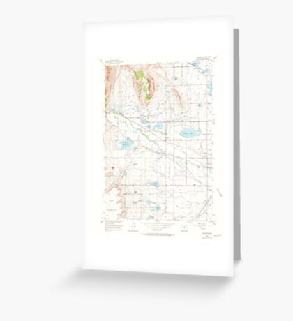 USGS TOPO Map Colorado CO Hygiene 450671 1950 24000 Greeting Card