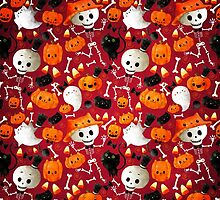 Halloween - Skeletons, cats and pumpkins by colonelle