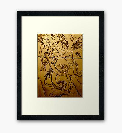 Inner Daemon. Framed Print