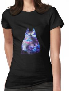 Cosmic cat Womens Fitted T-Shirt
