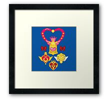 Pixel Brooches Framed Print