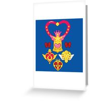 Pixel Brooches Greeting Card