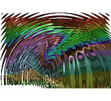 In a Frenzy Colorful Swirl Photographic Print