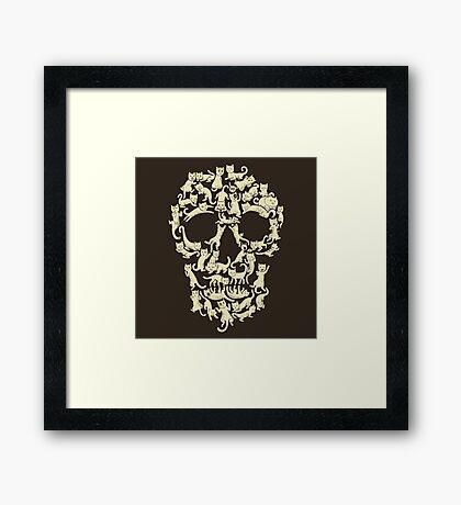 Catskull Framed Print