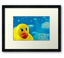 Bubble Duck Framed Print