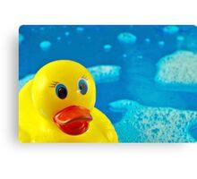 Bubble Duck Canvas Print