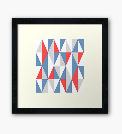 Graphic Art - Triangles Framed Print