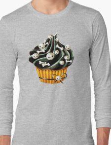 Black Halloween Cupcake Long Sleeve T-Shirt