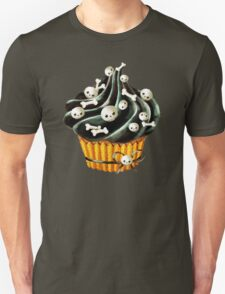 Black Halloween Cupcake Unisex T-Shirt