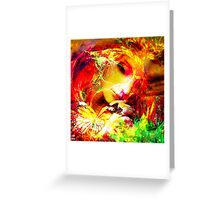 lady butterfly Greeting Card
