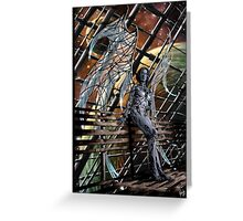 Robot Angel Painting 005 Greeting Card