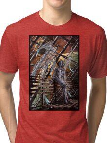 Robot Angel Painting 005 Tri-blend T-Shirt