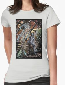 Robot Angel Painting 005 Womens Fitted T-Shirt