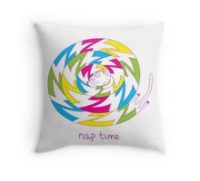 Psychedelic sleeping cat Throw Pillow