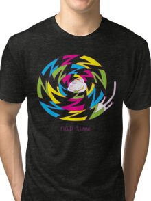 Psychedelic sleeping cat Tri-blend T-Shirt