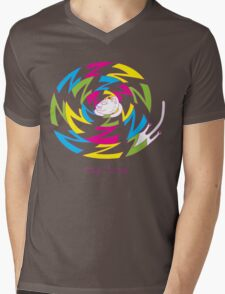 Psychedelic sleeping cat Mens V-Neck T-Shirt