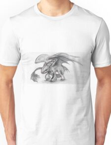 Toothless Pencil Drawing Unisex T-Shirt