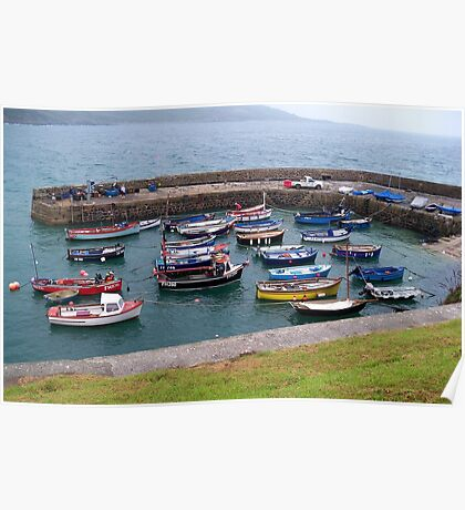 Safe Harbour at Coverack  Poster