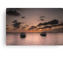 Dive boat sunset Canvas Print