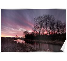 Sunrise over the Grand Union Canal Poster