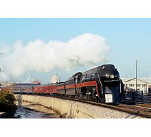 N&W #611 Eastbound Past Her Birthplace - Roanoke's East End Shops Photographic Print