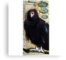 BIRD WOMAN of Mississippi - mixed media assemblage art Canvas Print