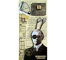 Inventor assemblage mixed media collage shadow box original art Photographic Print