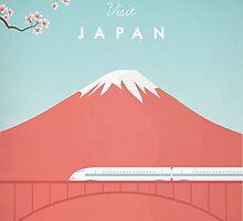 Vintage Japan Travel Poster by VintageTravelPosters .co