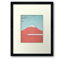 Vintage Japan Travel Poster Framed Print