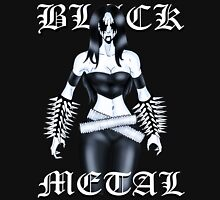 "Black Metal Chick ""Raw Necro Winter"" Unisex T-Shirt"