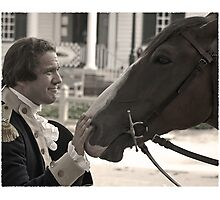 A man and his horse Photographic Print