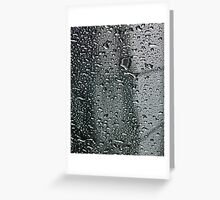 rain on the glass roof Greeting Card