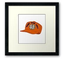 Time for Chili Hat Shirt Framed Print